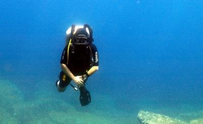 SCR Rebreather Diver